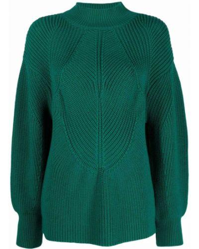 Зеленый шерстяной джемпер Alberta Ferretti