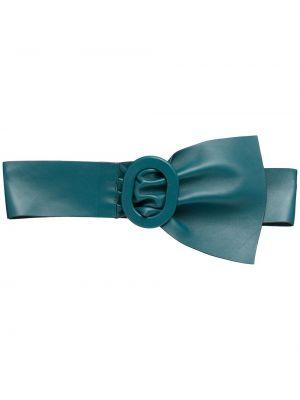 Niebieski szeroki pasek skórzany z paskiem Red Valentino
