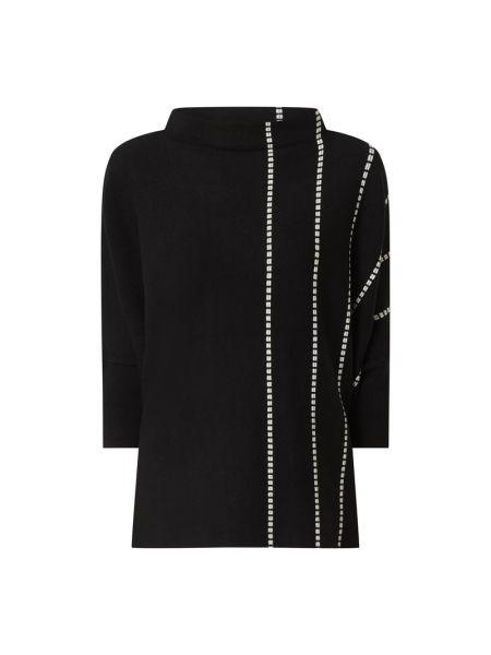 Czarny sweter w paski z wiskozy Someday