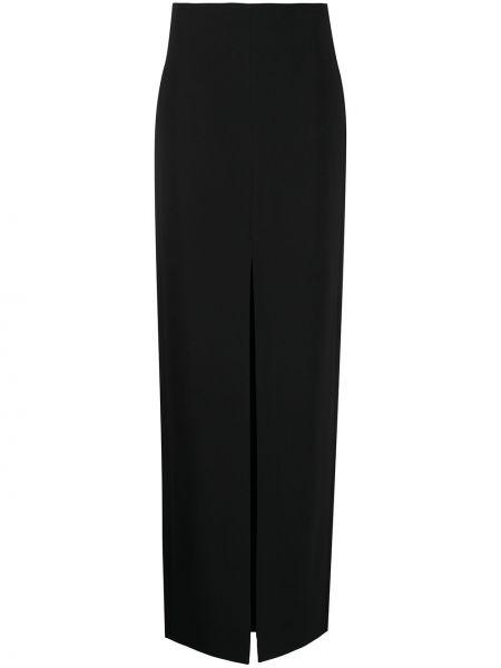 С завышенной талией прямая черная юбка макси David Koma