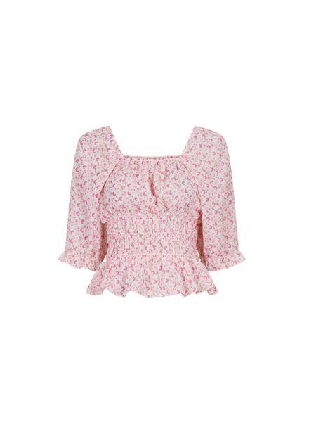 Różowa bluzka w kwiaty Neo Noir
