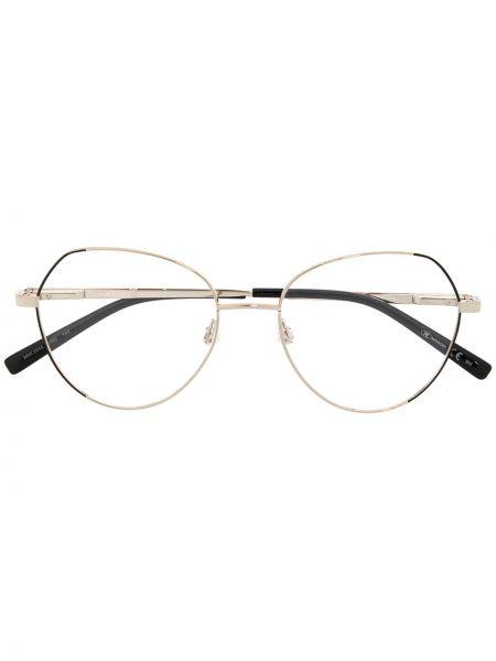 Złote oprawka do okularów - czarne M Missoni