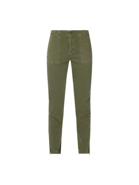 Zielone jeansy w paski bawełniane Lieblingsstück