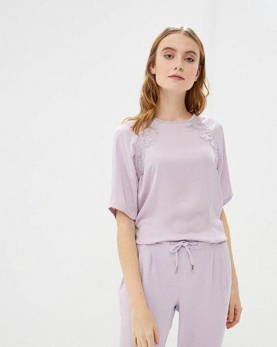 Блузка с коротким рукавом фиолетовый весенний Jacqueline De Yong