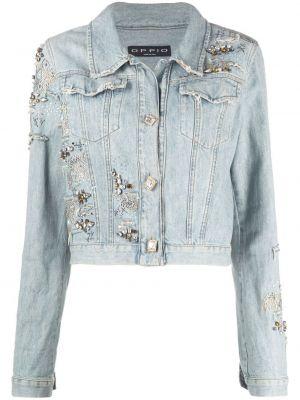 Синяя джинсовая куртка с воротником винтажная A.n.g.e.l.o. Vintage Cult