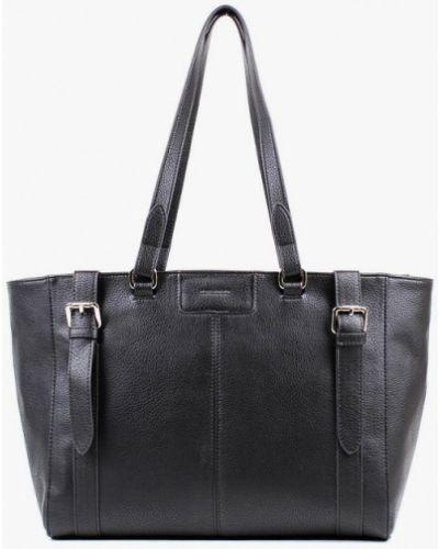 Кожаная черная сумка медведково