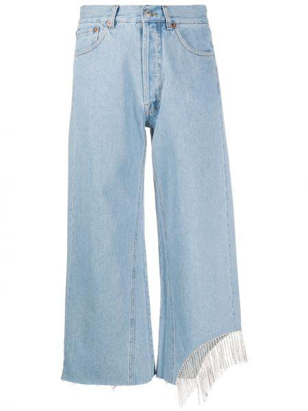 Szare jeansy bawełniane z paskiem Forte Dei Marmi Couture