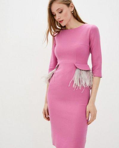 Розовое платье-футляр Dolcedonna