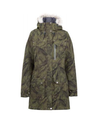 Зимняя куртка с капюшоном длинная Columbia