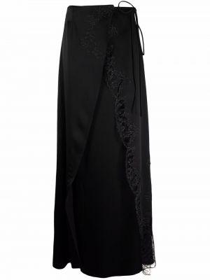 Черная юбка с запахом из вискозы с завязками Carine Gilson