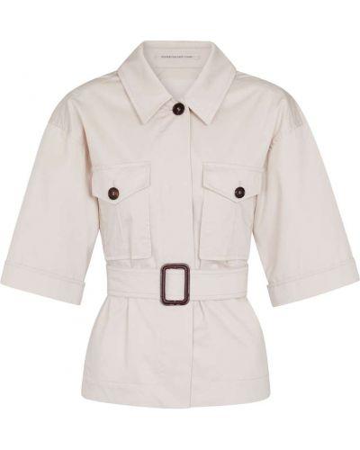Хлопковая ватная белая куртка 's Max Mara