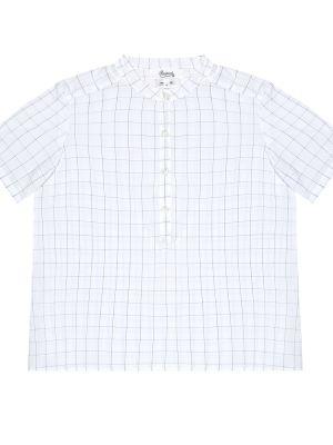 Klasyczna niebieska koszula bawełniana Bonpoint