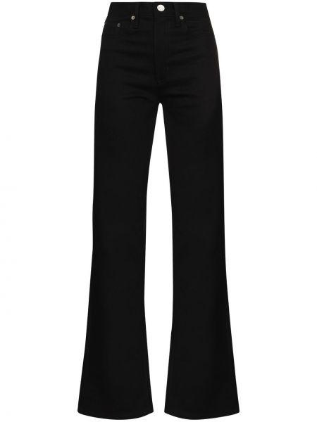 С завышенной талией черные прямые джинсы Matteau