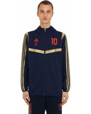 Kurtka z kapturem w paski Adidas Football