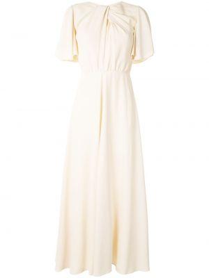 Расклешенное платье миди с вырезом с драпировкой Giambattista Valli