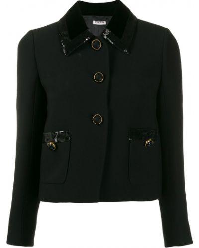 Пиджак черный с пайетками Miu Miu