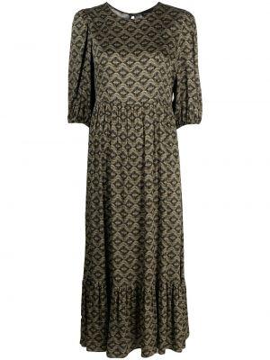 Зеленое пышное платье с вырезом Simonetta Ravizza