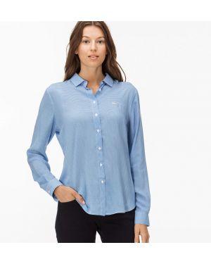 Рубашка с принтом на пуговицах Lacoste