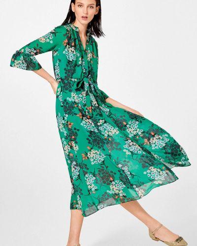 Повседневное платье весеннее зеленый Pedro Del Hierro