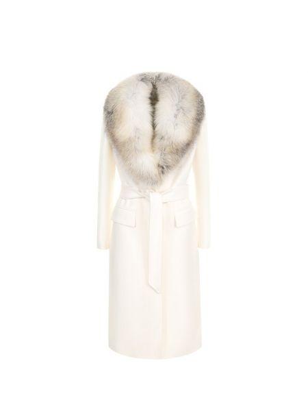 Пальто шерстяное из лисы Roberto Cavalli