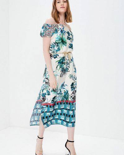Бежевое платье с открытыми плечами Rinascimento