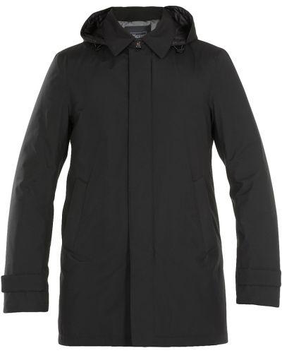 Długo płaszcz z kapturem z zamkiem błyskawicznym od płaszcza przeciwdeszczowego Herno