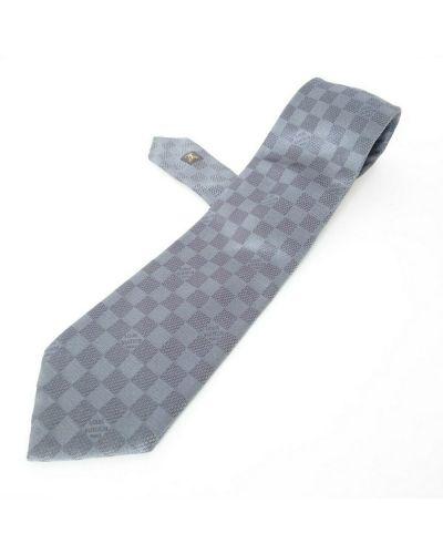 Szary krawat z jedwabiu Louis Vuitton Vintage