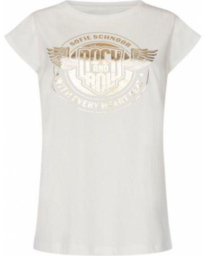 T-shirt - biała Sofie Schnoor