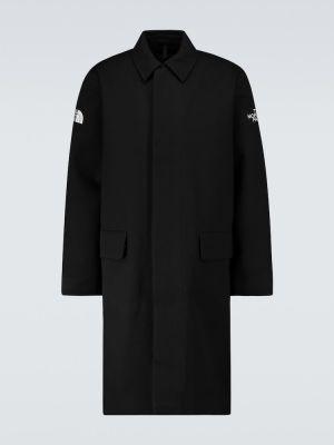 Czarny płaszcz wełniany zapinane na guziki The North Face Black Series