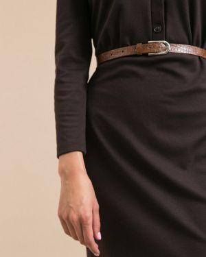 Платье с поясом на пуговицах с V-образным вырезом Emka