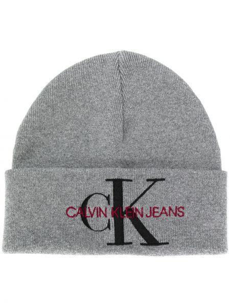 Вязаная шапка бини - зеленая Calvin Klein