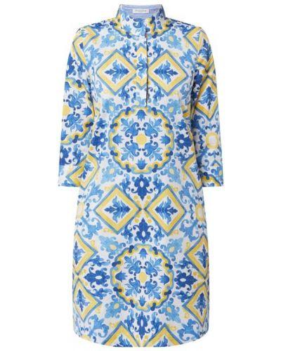Niebieska sukienka mini rozkloszowana bawełniana Christian Berg Women