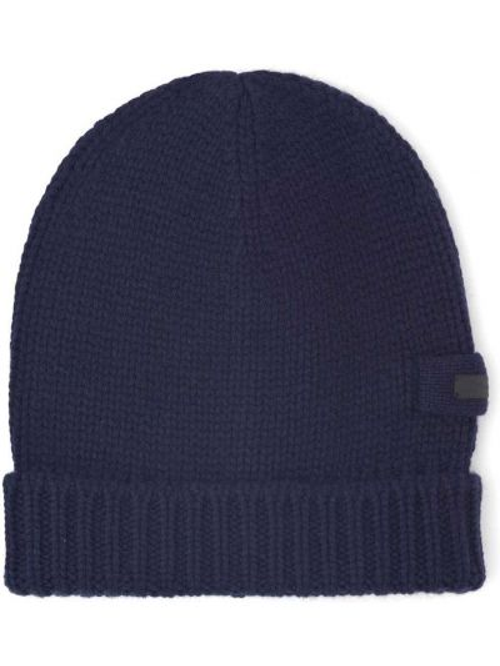 Niebieska z kaszmiru czapka Prada