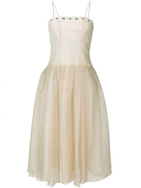 Платье миди винтажная на бретелях Romeo Gigli Pre-owned