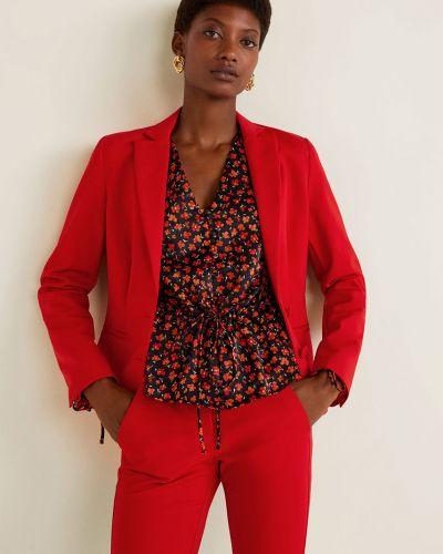 Классический пиджак красный узкий Mango