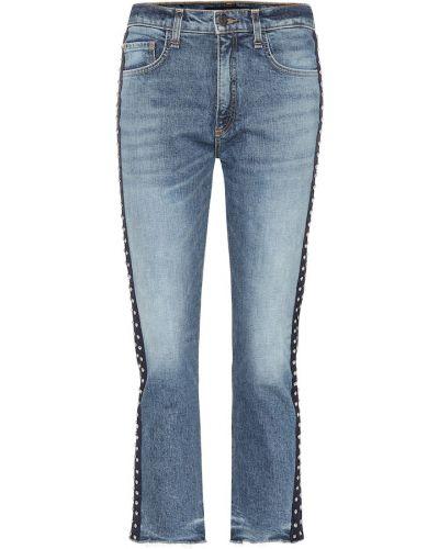 Укороченные джинсы в полоску классические Veronica Beard