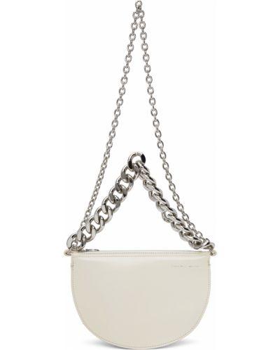 Torebka na łańcuszku srebrna - biała Kara