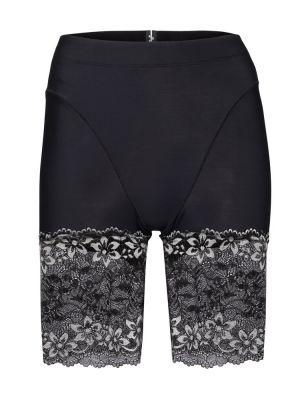 Czarne szorty koronkowe sznurowane Adam Selman Sport