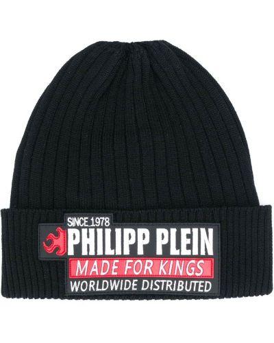 Czarny plaster wargowy z łatami Philipp Plein