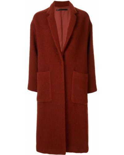 Однобортное длинное пальто с капюшоном Muller Of Yoshiokubo