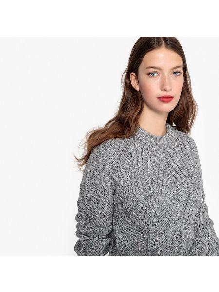 Пуловер длинный трикотажный La Redoute Collections