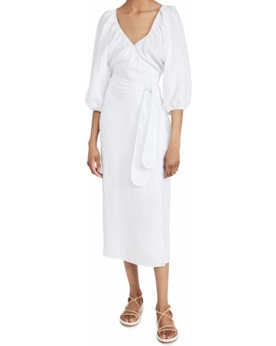 Sukienka z paskiem - biała Mara Hoffman