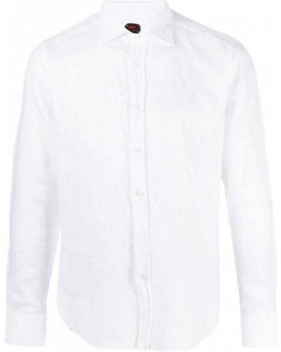 Klasyczna biała klasyczna koszula z długimi rękawami Mp Massimo Piombo
