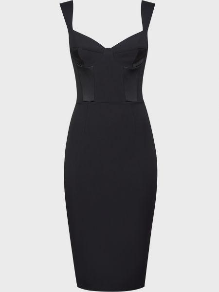 Черное платье на молнии Elisabetta Franchi