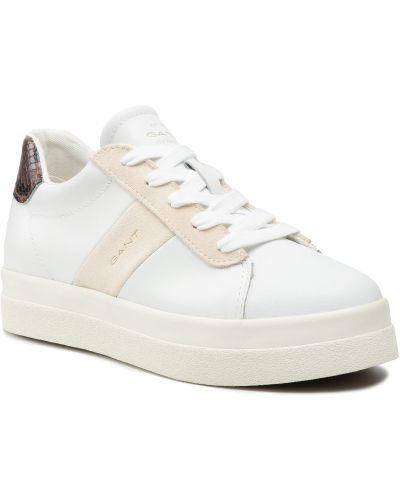 Białe półbuty casual Gant