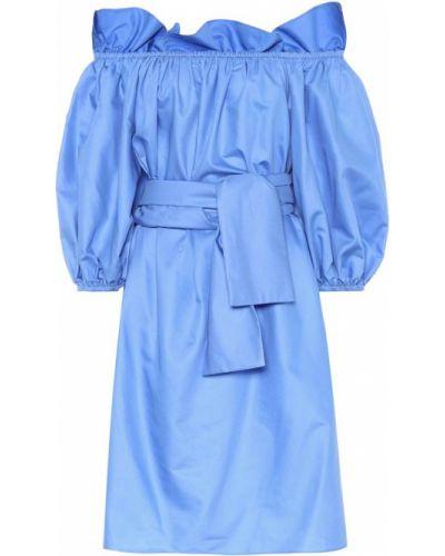 Летнее платье из поплина синее Stella Mccartney