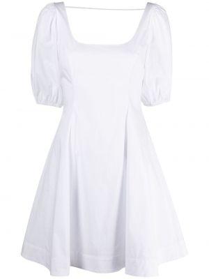 Biała spódnica mini rozkloszowana bawełniana Staud