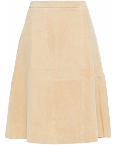 Замшевая юбка - бежевая American Vintage