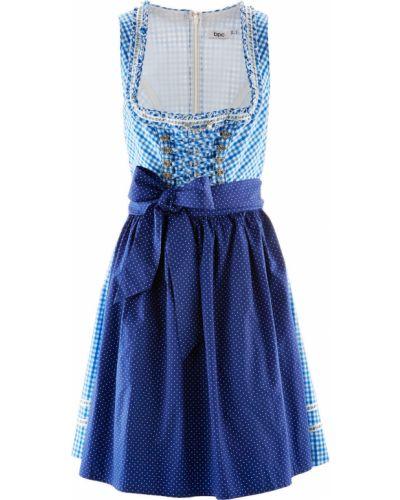 Платье в клетку с фартуком Bonprix