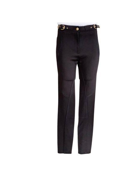 Czarne spodnie boho Versace Jeans Couture